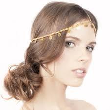 hair decoration fashion hair decoration boho accessoiries metal gold coin forehead
