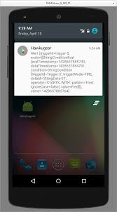 hawkular alert notifiers for mobile devices - Android Smspush