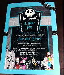 the nightmare before christmas baby shower diy back of invitation
