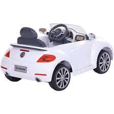 volkswagen bug drawing rollplay 6v vw beetle white walmart com
