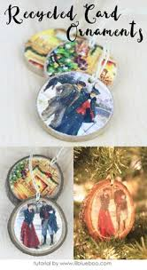 recycled card ornaments that can be used as gift tags