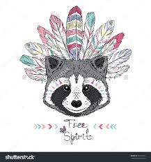royalty free raccoon aztec style hand drawn animal u2026 265732622