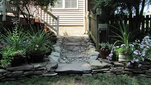 Drainage Ideas For Backyard by How To Enhance Your Yard Through Stone Steps And Pathways