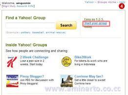 Membuat Group Di Yahoo Mail | cara membuat mailing list di yahoo groups aminarto online