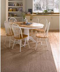 buy kentucky white natural extendable dining table and 6 chairs at