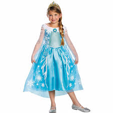 halloween store usa frozen elsa deluxe child halloween costume walmart com