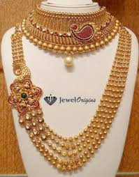 gold necklace jewellery images Designer gold and diamond jewellery indian jpg