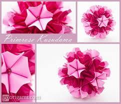 Origami Paper Works - diy origami primrose kusudama flower new craft works