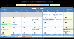 print friendly december 2016 us calendar for printing