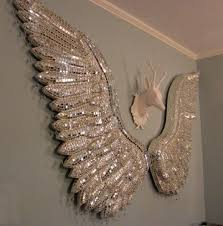 angel decorations for home charming idea angel wings wall decor home remodel ideas sparkly