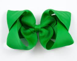 green hair bow etsy