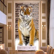online get cheap 3d wall murals corridor aliexpress com alibaba lifelike tiger photo wall mural for living room entrance corridor modern home decor non woven 3d relief customize size wallpaper