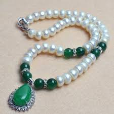 natural beads necklace images Natural freshwater pearl necklace luxury beads necklaces with jpg