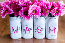 Mason Jar Vases Tips For Painting Distressed Mason Jars