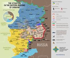 Border Patrol Checkpoints Map The Situation In The Eastern Regions Of Ukraine 29 08 2014 Maps