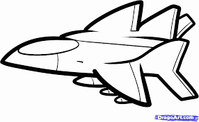airplane drawings kids coloring