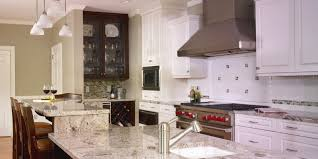 kitchen red kitchen cabinets sink faucet white tile floor