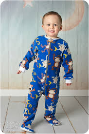 classic footed pajamas pdf sewing pattern