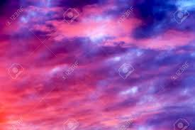 Purple Shades by Great Sunset Sky With Clouds All Possible Shades Of Pink And