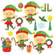 christmas elf vector illustration stock vector art 493574788 istock