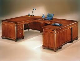 Computer Desk Cherry Wood Best U Shaped Desk Design For Home Office Desk Design