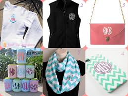 monogramed items monogram the prep crew