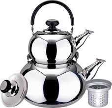 amazon com turkish double tea kettle pot samovar style water