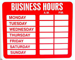 business hours sign template 41 images business hours sign