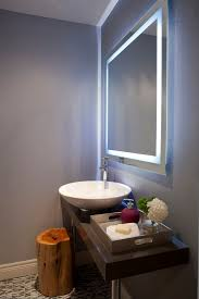 bathroom mirror designs backlit mirror designer bathroom mirrors with lights home