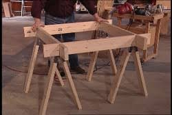 Free Woodworking Plans Projects Patterns by Free Sawhorse Patterns Woodworking Plans And Information At