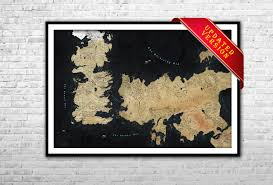 Game Of Thrones Google Map Etsy Your Place To Buy And Sell All Things Handmade