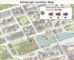 Edinburgh Map Finding Us Edinburgh Bus Tours
