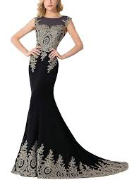 amazon com misshow women u0027s embroidery lace long mermaid formal