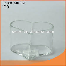 Heart Shaped Glass Vase Clear Heart Shaped Shallow Glass Vase Or Used As Fish Bowl In 3