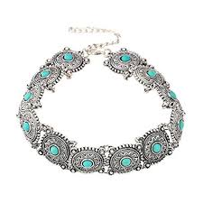 vintage jewelry choker necklace images Choker for girls boho turquoise choker necklace necklace necklace jpg