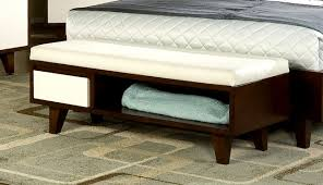 Decorative Bench With Storage Lovable Bed End Bench With Storage Furniture Elegant White Tufted