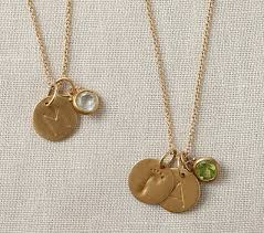 charm necklace images Gold chain charm necklace pottery barn kids jpg