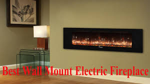 best wall mount electric fireplace thereviewio youtube