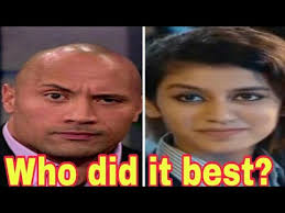 Eyebrow Meme - oru adaar love meme priya prakash varrier the rock eyebrow