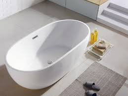 tropicana 60 x 30 white oval soaking bathtub by pacific