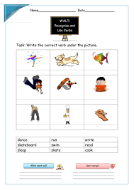 action verbs worksheet by krazikas teaching resources tes