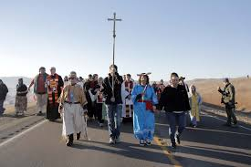 500 religious leaders joined native americans in protest and
