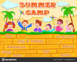 summer camp kids stock vectors royalty free summer camp kids