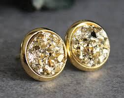 gold stud earings gold stud earrings etsy