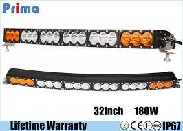 multi color led light bar multi color 180w 32 inch curved led light bar amber white ip67