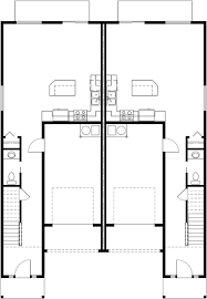 duplex house plans narrow row house plans d 541
