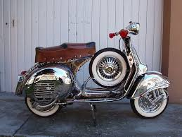 123 best silver paint vintage vespa scooters images on pinterest