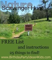 Backyard Scavenger Hunt Ideas Nature Scavenger Hunt List Free Item List
