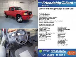 2004 ford ranger 4 cylinder ford ranger edge in tennessee for sale used cars on buysellsearch