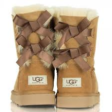 ugg s anais shoes chestnut light brown ugg boots with bows